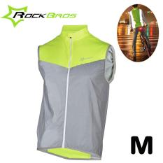 Rockbros Men Reflective Vest Night Running Waistcoat Sleeveless Cycling Jersey Breathable Sportswear Running Safety Clothing Best Buy