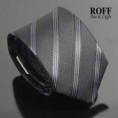 Sale Roff Simple Black Striped Tie Classic 9Cm Style On Singapore