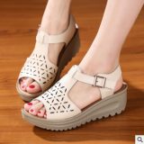 How To Get Roman Leather Female With Flat Women S Shoes Sandals Off White Color