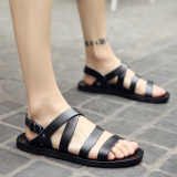 Retail Men S Korean Style Stylish Big Size Roman Sandal Black Black