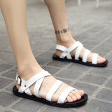 How Do I Get Men S Korean Style Stylish Big Size Roman Sandal White White