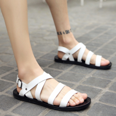 Discounted Men S Korean Style Stylish Big Size Roman Sandal White White