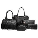 Store Rose Tote With Pouch Ladies Bag Peony Jet Black Six Pieces Set Peony Jet Black Six Pieces Set Oem On Singapore