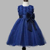 Buy Cheap Rose Flower Kids Girls Sleeveless Princess Party Dress Bow Wedding Bridesmaid Christening Gown Dresses Intl