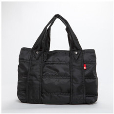 Rose Noire Premium Foldable Nylon Super Light Weight Handbag Tote Bag Travel Tote Bag Messenger Bag Mummy Bag Medium Black Intl Cheap