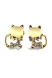 Sale Rosevette Swarovski Crystal Moon Cat Earring Gold Online On Singapore
