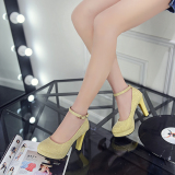 Store Round A Line Buckle Patent Leather Princess Shoes Korean Style Shoes Gold Oem On China