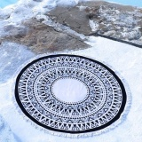 Cheapest Round Hippie Tapestry Beach Throw Roundie Mandala Towel Yoga Mat Bohemian Featur Intl Online