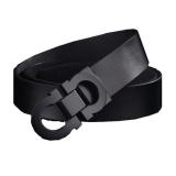 Brand New Runda Century New Style Belt Men S Genuine Cowhide Leather Belt Black Black Buckle Intl