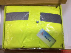 Best Deal Safety Yellow And Green Flourescent Traffic Reflective Raincoat Lemon Yellow