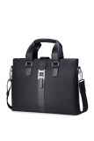Buy Sammons Men Waterproof Nylon Genuine Leather Purse Tote Laptop Shoulder Bag Handbag Black Cheap Singapore