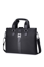 The Cheapest Sammons Men Waterproof Nylon Genuine Leather Purse Tote Laptop Shoulder Bag Handbag Black Online