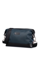 Buy Sammons Men Waterproof Nylon Genuine Leather Travel Zip Clutch Bag Messenger Blue