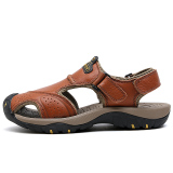 Best Rated Men S Closed Toe Casual Leather Sandals Brown Brown