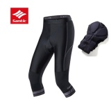 Discount Santic Cycling Shorts Capri Pants Bike Cropped Trousers Equipment Breathable Pad Men Shorts Grey Intl Santic