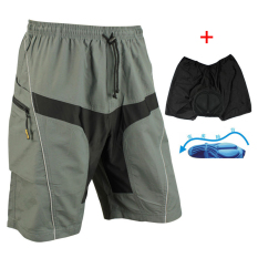 Price Comparisons For Santic Cycling Shorts Casual Shorts With Pad Detachable Liner Gray New