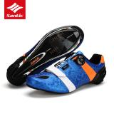 Santic Men Cycling Shoes Ultralight Carbon Fiber Sole Professional Road Bike Shoes Auto Lock Road Bicycle Shoes Sapatilha Ciclismo Blue Intl Shop