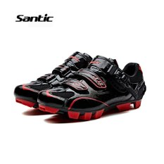Top Rated Santic Men Mtb Cycling Shoes Auto Lock Bicycle Shoes Mountain Bike For Shimano Spd Eggbeater System Shoes 3 Colors Black Red Intl