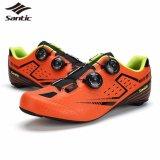 Santic Men Road Cycling Shoes Carbon Fiber Sole Self Lock Bicycle Shoes Intl Cheap