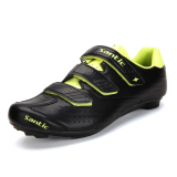 Top Rated Santic Microfiber Cycling Shoes Road Bike Lock Nail Shoes Unisex Shoes Black Yellow