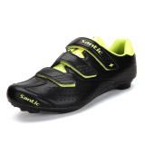Sale Santic Microfiber Cycling Shoes Road Bike Lock Nail Shoes Unisex Shoes Black Yellow Santic Branded