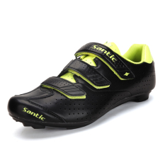 Sale Santic Microfiber Cycling Shoes Road Bike Lock Nail Shoes Unisex Shoes Black Yellow Santic Online