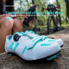 262087a13cc Santic Professional Sports Road Riding Auto-Lock Cycling Shoes Men Women  Turn Buckle Nylon Sole