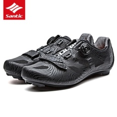 Cheapest Santic Professional Sports Road Riding Auto Lock Cycling Shoes Men Women Turn Buckle Nylon Sole Bicycle Shoes Breathable Bike Shoes Ciclismo Intl Online