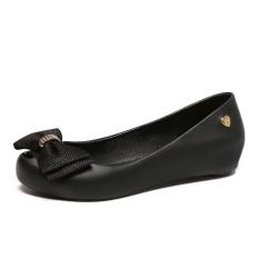 Women S Peep Toe Flat Jelly Shoes Black Online