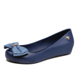 Best Buy Women S Peep Toe Flat Jelly Shoes Dark Blue