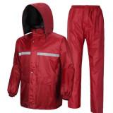 Best Deal Security Sanitation Traffic Rain Pants Reflective Raincoat Purple Suit Color Purple Suit Color