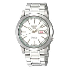 Review Seiko Men S 5 Automatic Silver Stainless Steel Band Watch Snke49K1 Singapore