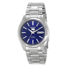 Seiko Men's 5 Automatic Silver Stainless Steel Band Watch SNKL43K1