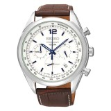 Seiko Chronograph Men S Brown Leather Strap Watch Ssb095P1 Best Price