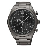 Buy Seiko Chronograph Men S Black Stainless Steel Strap Watch Ssb093P1 Cheap Singapore
