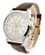 Seiko Chronograph Perpetual Men S Brown Leather Strap Watch Spc129P1 For Sale Online