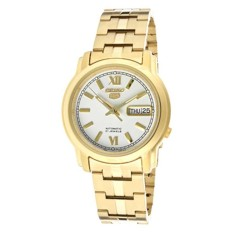Seiko Men 5 Automatic Men S Gold Stainless Steel Strap Watch Snkk84K1 Compare Prices