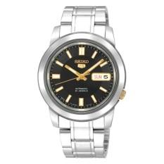Seiko Men 5 Automatic Men's Silver Stainless Steel Watch SNKK17K1