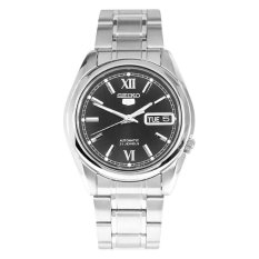 Seiko Men S 5 Automatic Silver Stainless Steel Band Watch Snkl55K1 Sale
