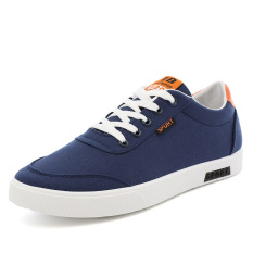 Buy Canvas Student Shoes Boy S White Shoes Dark Blue Dark Blue Oem Cheap
