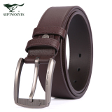 Coupon Septwolves Leather Men S Pin Buckle Belt Leather Belt