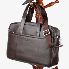Septwolves Men Business Middle Aged Briefcase Handbag Brown Color In Stock
