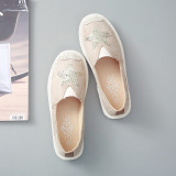 Buy Sequin Female Spring New Style Women Shoes A Pedal Khaki