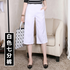 Discount Men S Casual Female Thin Loose Fit Shorts Wide Leg Pants White