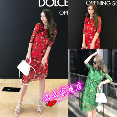 The Cheapest S*Xy Hypotenuse Frog Slim Fit Dress Improved Cheongsam Red Online