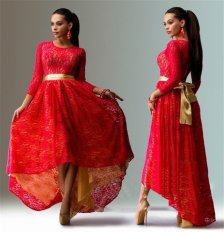 Buy S*xy Lace Evening Formal Party Cocktail Long Dress Prom Gown Red Cheap China