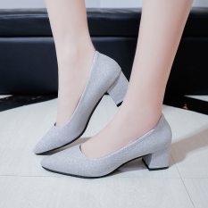 S*xy Silver Spring New Style Pumps Silver Oem Discount