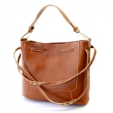 Best Deal Sh Retro Stitching And Solid Color Design Women S Shoulder Bag Light Brown Intl