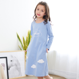 Buy Shanbaomay Korean Style Spring And Autumn Long Sleeved Cotton Casual Tracksuit Children S Pajamas Blue G6020 Blue G6020 Cheap China
