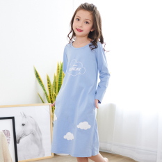 Price Shanbaomay Korean Style Spring And Autumn Long Sleeved Cotton Casual Tracksuit Children S Pajamas Blue G6020 Blue G6020 Shanbaomay New